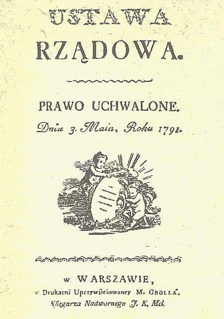 Karta tytułowa pierwszego wydania Konstytucji 3 maja. Wojciech Wiktor Szczygielski