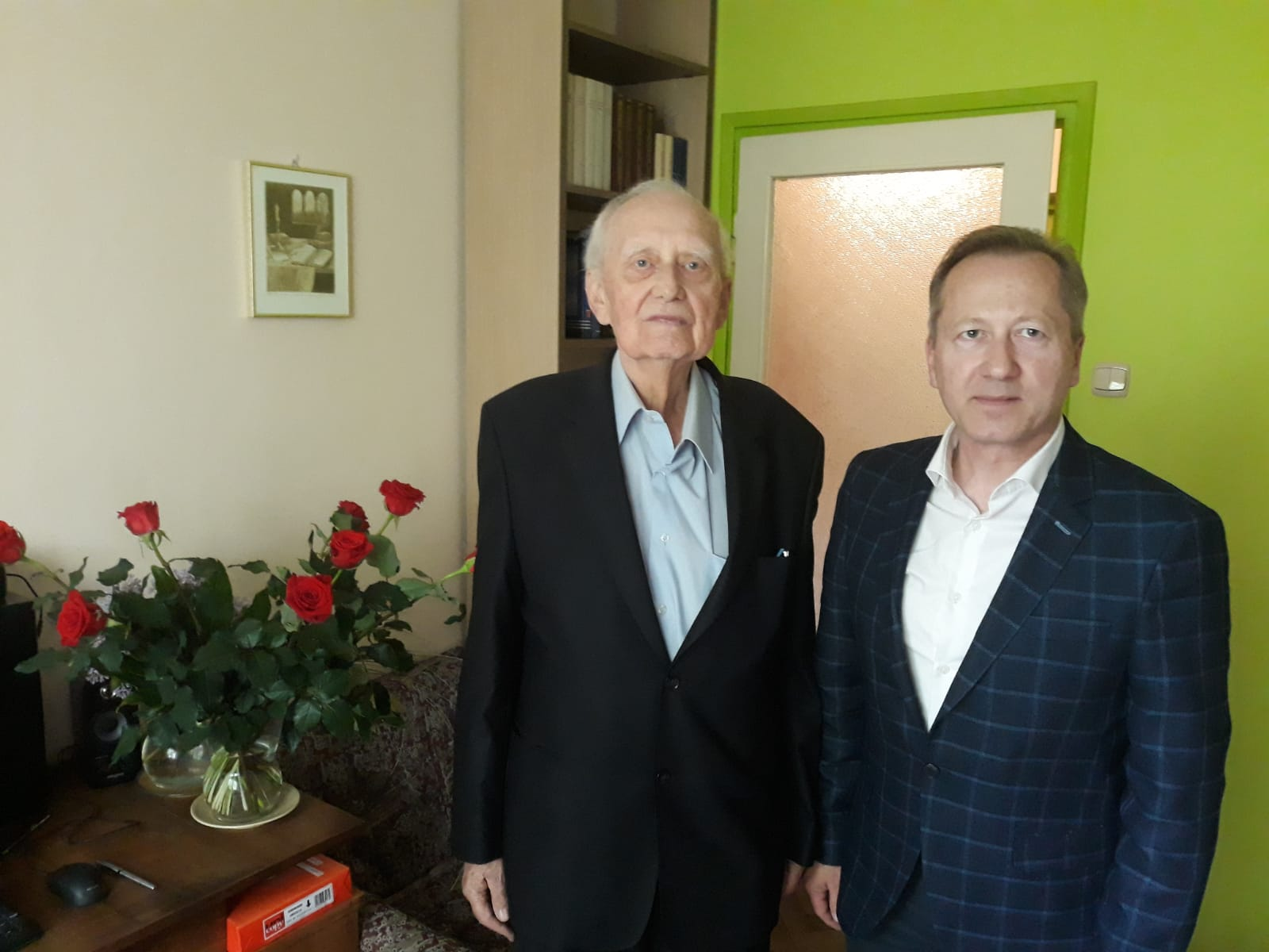 85 rocznica urodzin: wizyta Dyrektora Muzeum Ziemi Wieluńskiej w Wieluniu - Jana Książka. Wojciech Szczygielski